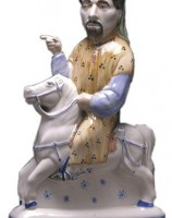 Rye Pottery's Canterbury Tales Collection - Chaucer ht 31cm/12.25 in. Modelled on an early portrait belonging to the Sackville family