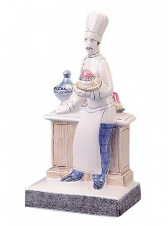 Rye Pottery hand decorated Chef