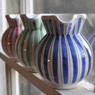 Rye Pottery - Striped Jugs - Blue & White Ceramics