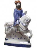 Rye Pottery Figures from Chaucer's Canterbury Tales - The Knight 25cm 9.75in