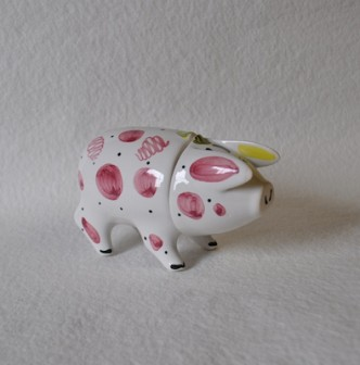 Rye Pottery - Hand-painted Small Sussex Pig - Pink - A traditional Sussex Wedding Present