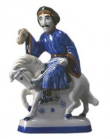 Rye Pottery Figures from Chaucer's Canterbury Tales - The Manciple ht 23cm 9 in