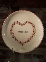 "Rye Pottery - Hand-painted valentines dish ""With Love"""