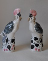 Rye Pottery hand-made and decorated Exotic collection Ceramic Cockatoo