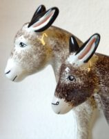 Country Riding Gift Donkey Rye Pottery - English Animals - Hand-made Ceramic Donkey large and small