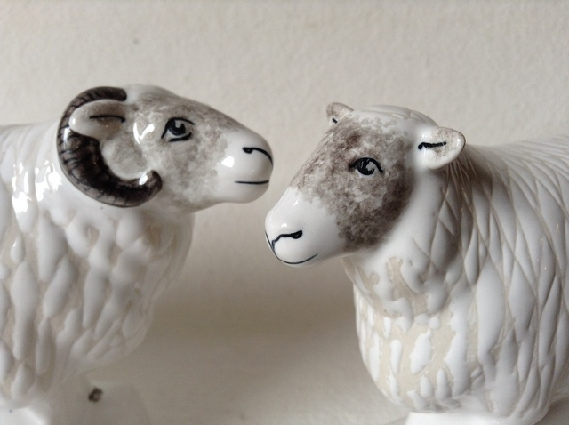 Rye Pottery 187 Sheep Ram Amp Ewe