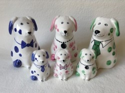Rye Pottery - Ceramic Dogs & Puppies in New COlourways 2014 - Low res1
