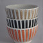 Rye Pottery - Mid Century Modern Ceramics - Cottage Stripe - Little Bowls