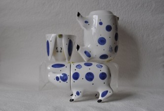 Sussex pig - traditional Sussex Ceramic Wedding gift Hand painted rye pottery