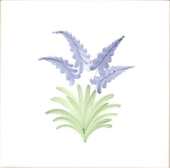 Rye Pottery Hand-painted Flower Tiles Lupins sm