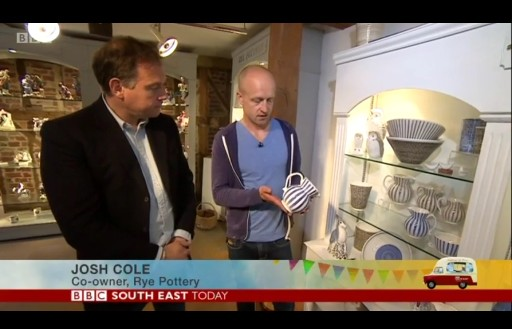 Paddy O'Connell Interviews Josh Cole at Rye Pottery