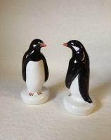 Rye Potter Hand made hand painted ceramic animals and Birds The Penguin by Wally Cole MBE