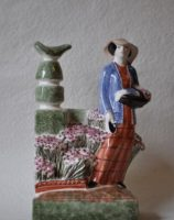 Rye Pottery - Hand made and painted English Figures Collection The County Gardener - THe Lady Gardener -Female Gardener