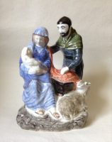 Rye Pottery Hand made and painted Nativity Ceramic Mary Joseph Child Shepherds and Kings Ceramic4