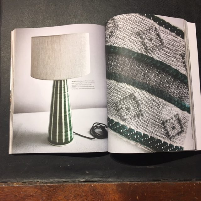 Rye Pottery Mid Century Modern ceramic Lamp featured in Country Living Modern Rustic Magazine