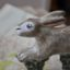Rabbit Hare Gift Hunting Farming Rye Pottery Hand made and painted Running Hare 2