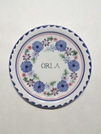 God parent Gift Rye Pottery Hand made named childs plate Bespoke Christening Gift